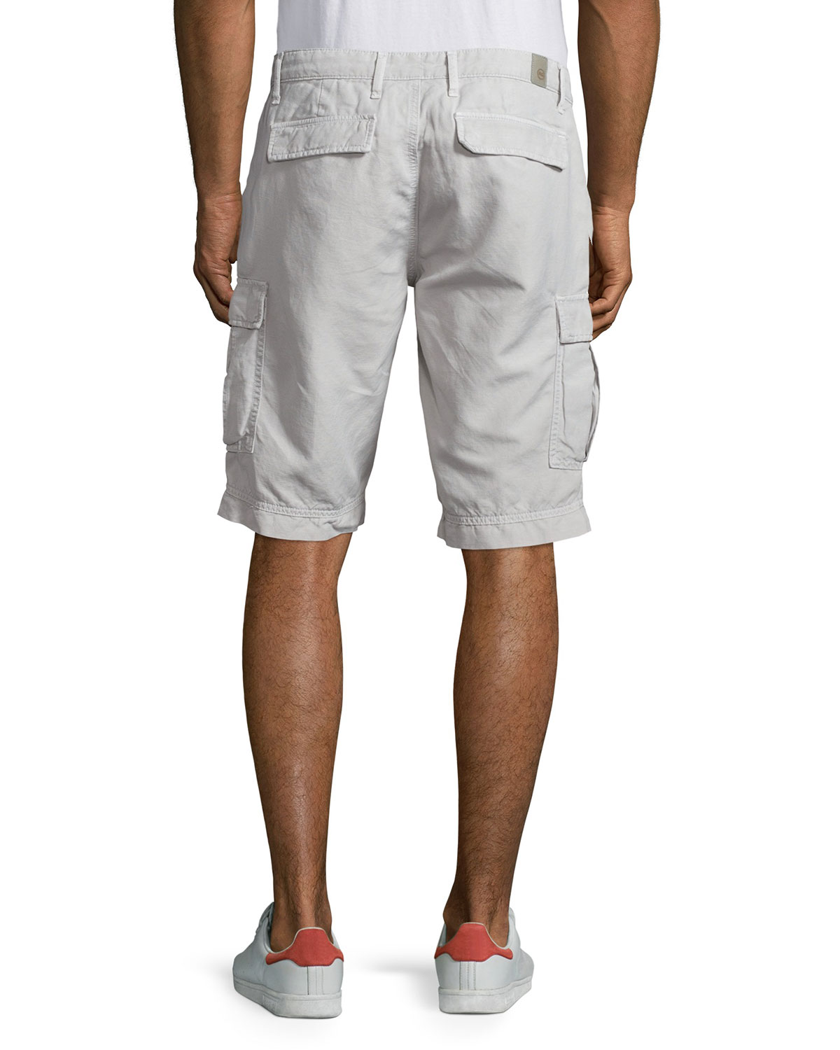 AG Adriano Goldschmied Mens Bunker Cargo Shorts In Sweater Blue