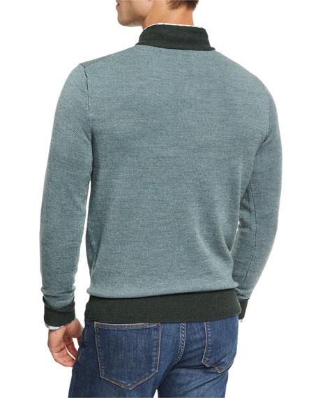 Merino Birdseye Quarter-Zip Pullover