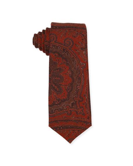 Paisley Wool-Silk Tie