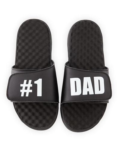 Men's #1 Dad Slide Sandals  Black