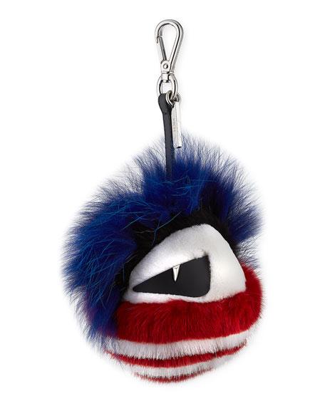 Punk Bag Bug Fur Charm for Bag or Briefcase
