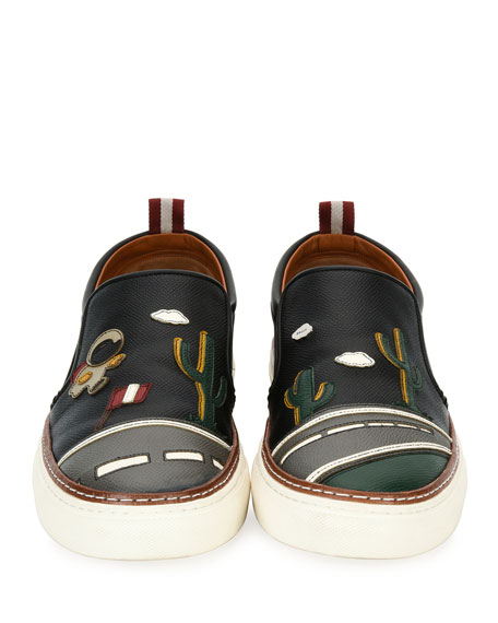 Bally Herrison Cactus Leather Skate Sneaker