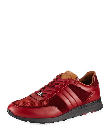 Bally Ascar Leather Running Sneaker