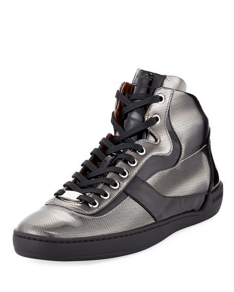Bally Eroy Cat Eye Metallic High-top Sneaker and