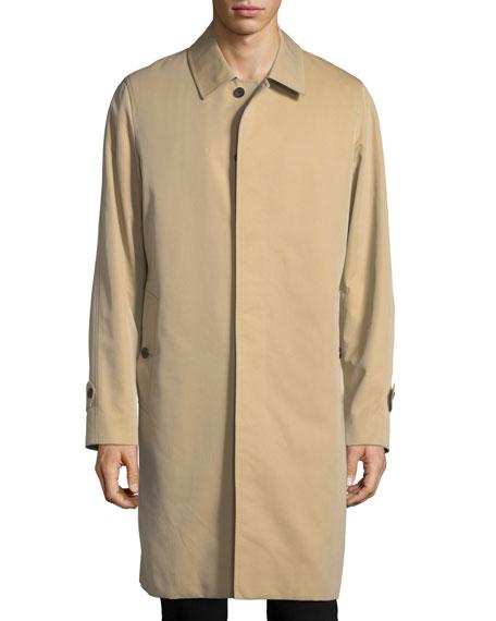 Balmacaan Gabardine Overcoat