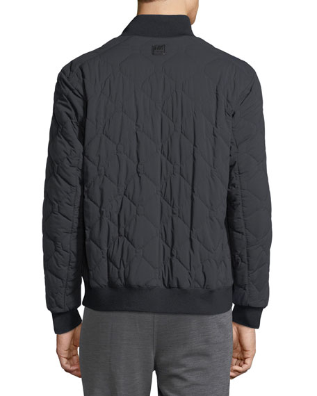 Techmerino Reversible Quilted Bomber Jacket