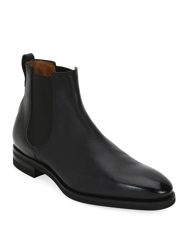 b7287024fa7 Scavone Deerskin Leather Chelsea Boot