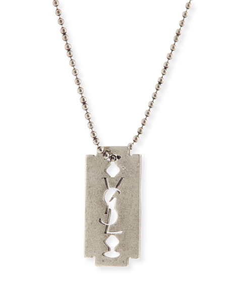 Men's Razor Blade Necklace