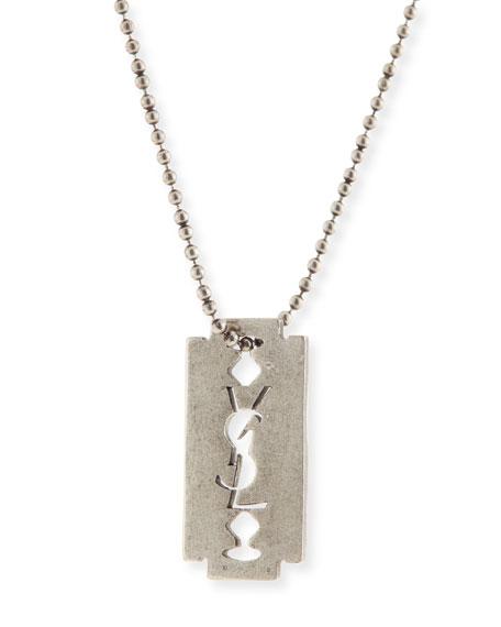 Men's Razor Blade Necklace