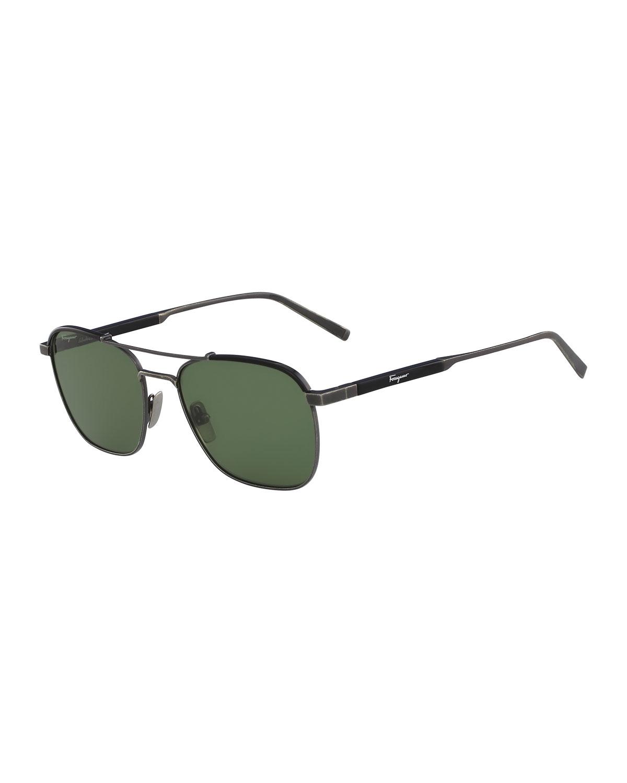 5e84708ec6 Salvatore Ferragamo Men s Signature Navigator Sunglasses
