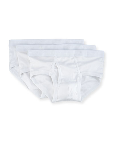 3-Pack Mercerized Cotton Briefs