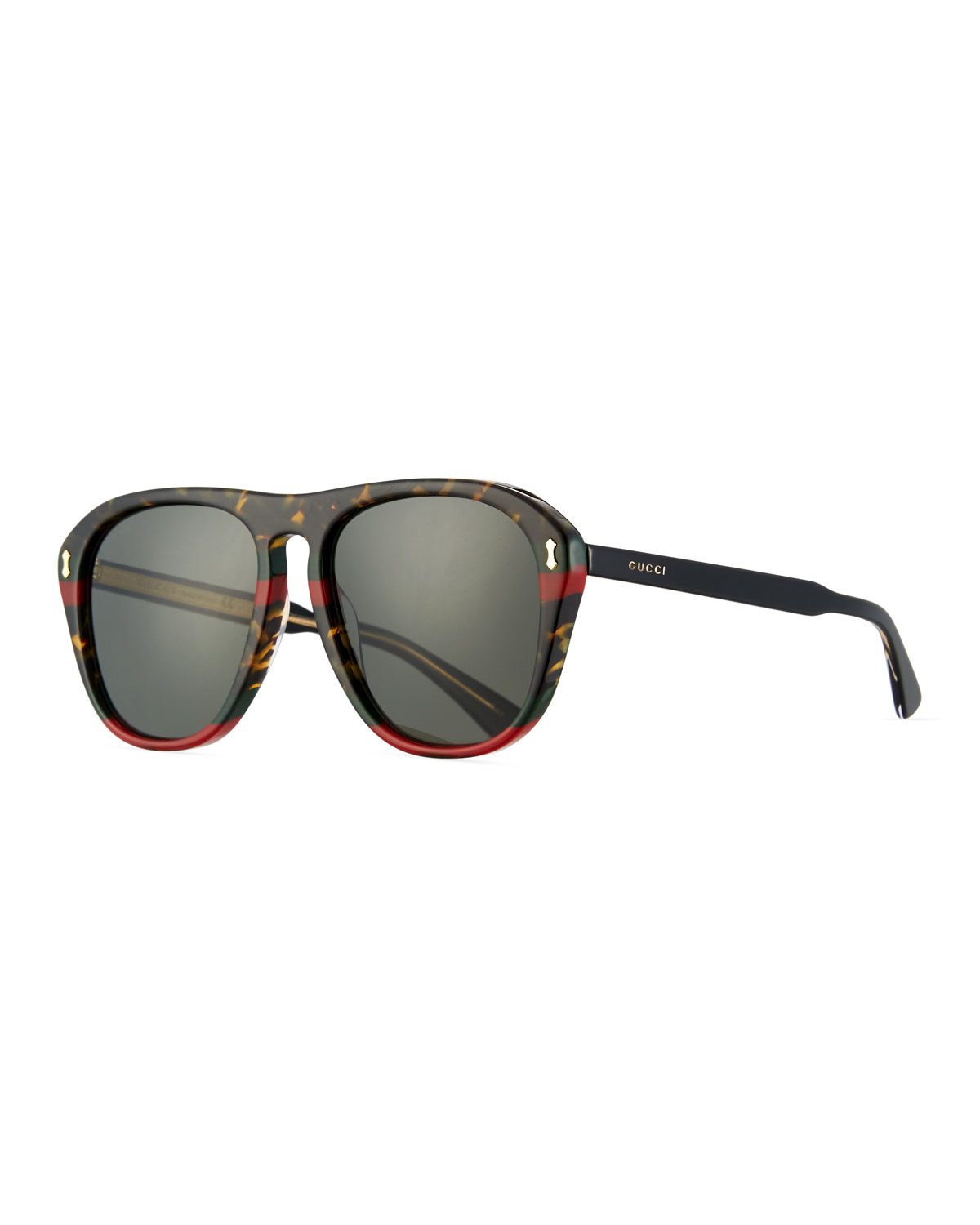 fd280cec4e6 Gucci Men s Acetate Aviator Sunglasses