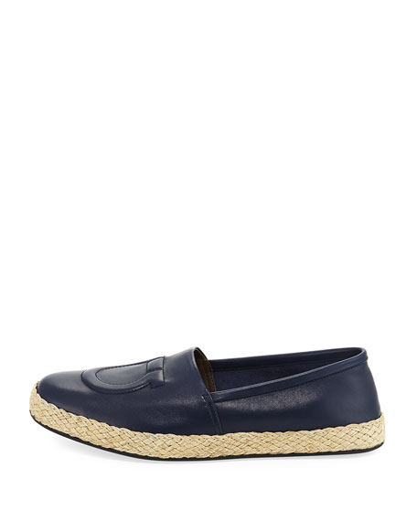 Men's Leather Gancio Espadrille