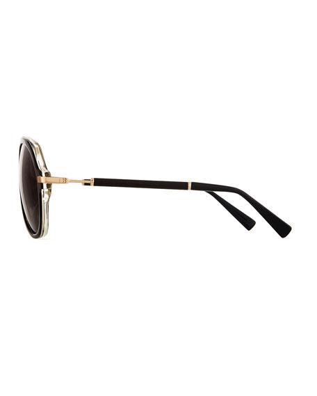 Acetate Aviator Sunglasses by Balmain