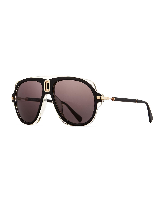 4e4800435bd Balmain Acetate Aviator Sunglasses
