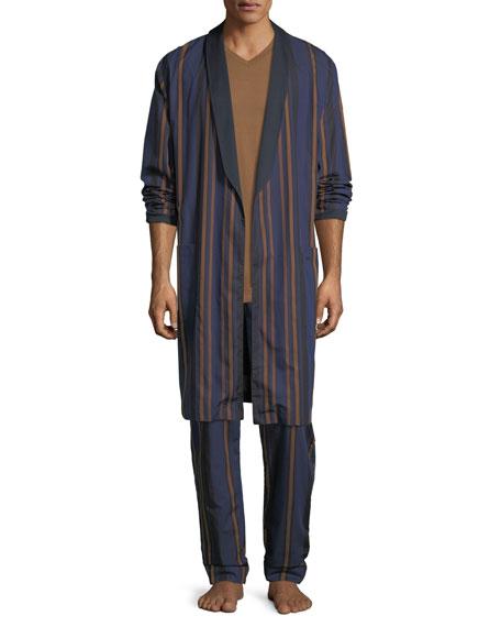 Striped Woven Robe