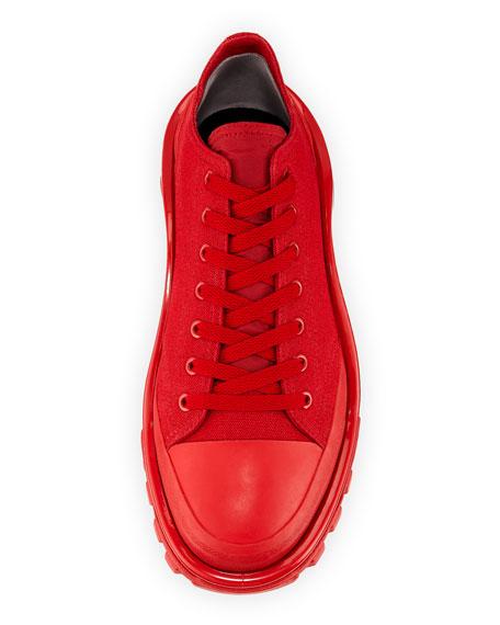 Men's Detroit Runner Canvas Sneakers, Red