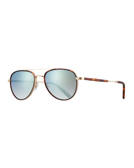 Garrett Leight Linnie 51 Tortoiseshell Sunglasses