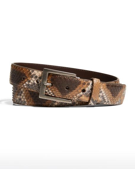 W. Kleinberg Python Matte Belt