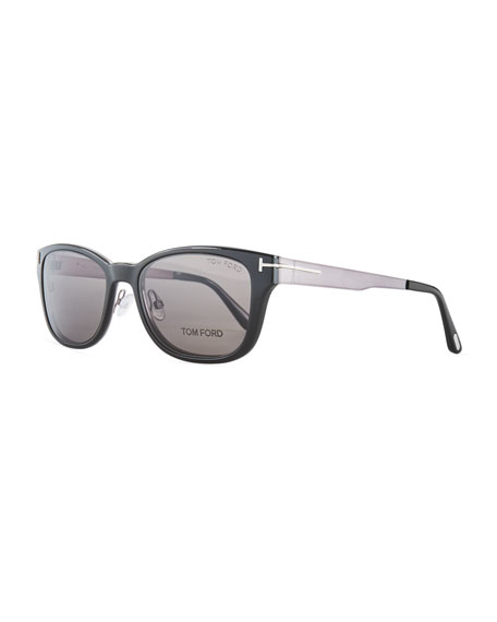 TOM FORD Square Plastic/Metal Optical Glasses