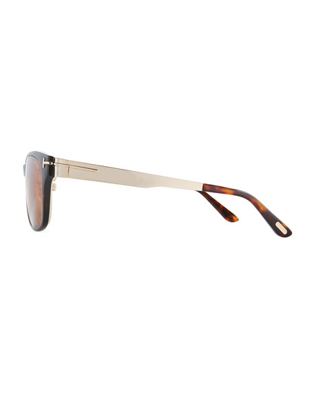 Soft Square Plastic/Metal Glasses w/ Clip-On Sun Lenses