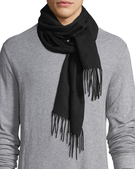 Cashmere Fringed-End Scarf