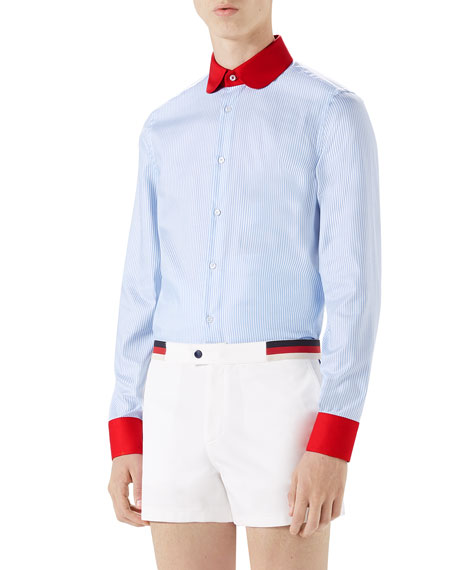 Gucci Oxford Striped Tailored Formal Shirt