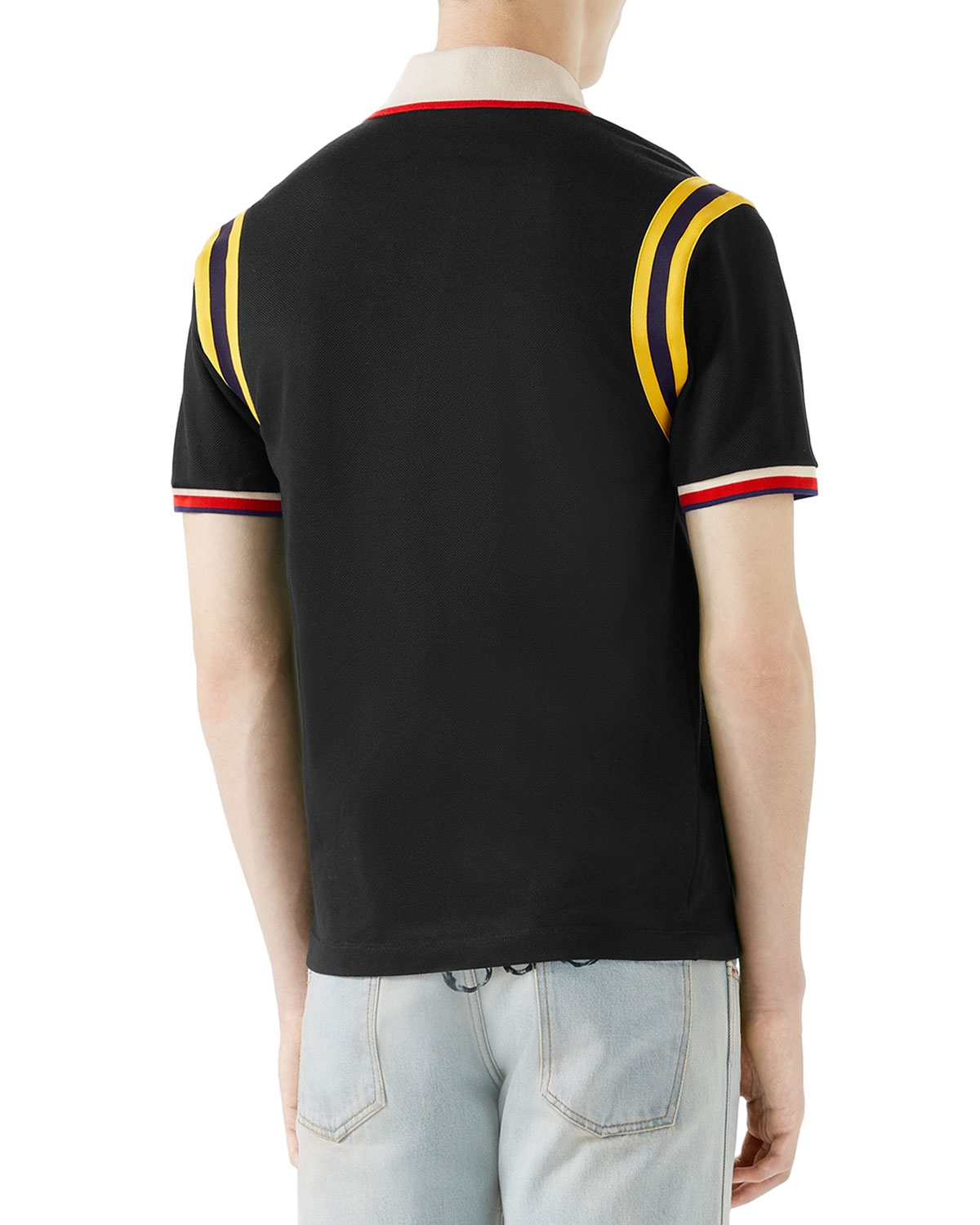 558a1c8ce6d Gucci Bee-Embroidered Polo Shirt | Neiman Marcus