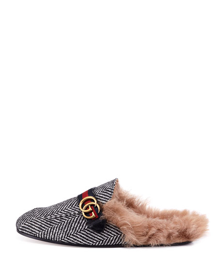 Princetown Herringbone Slipper with Double G