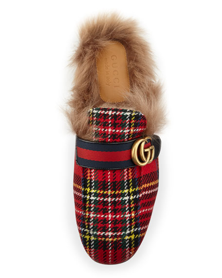 Princetown Tartan Slipper with Double G