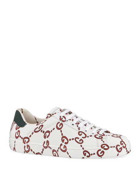Gucci Ace Sneaker w/ GG-Print