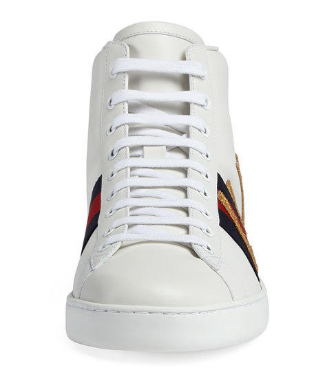 Ace Embroidered High-Top Sneaker