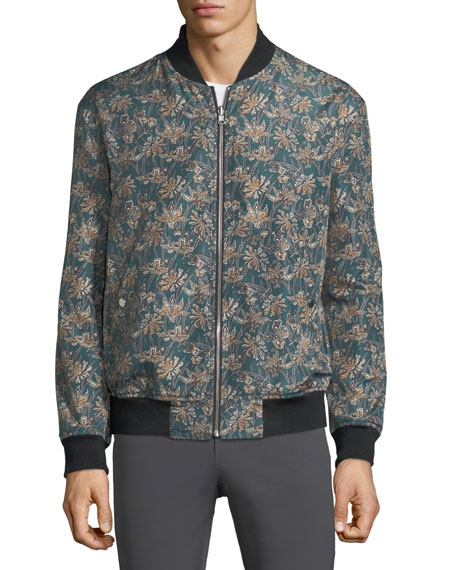 Reversible Linen-Blend Bomber Jacket