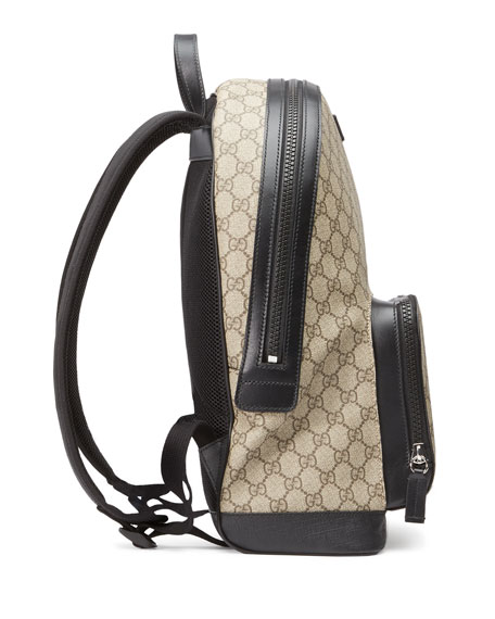 Gucci Men's GG Supreme Canvas Backpack