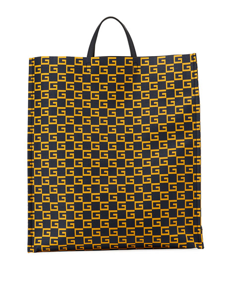 Gucci Men's GG Supreme Cube-Print Tote Bag