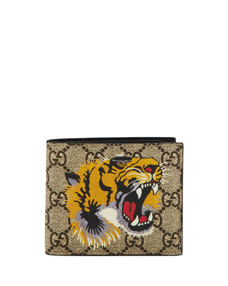 Gucci Bestiary Tiger-Print GG Supreme Wallet