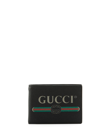Gucci Bi-Fold Leather Logo Wallet
