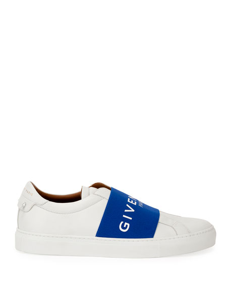 Men's Urban Street Elastic Slip-On Sneakers, White/Black