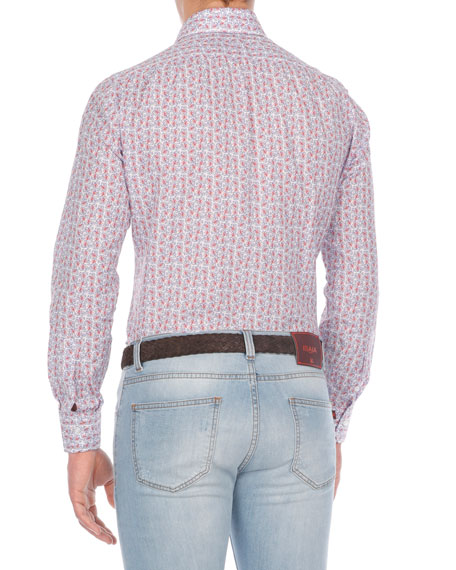 Floral-Print Cotton Sport Shirt