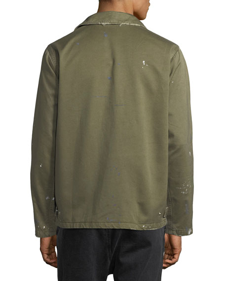 Men's Twill Military Jacket