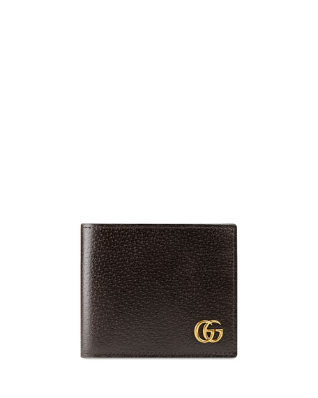 Gucci Leather GG Corner Wallet