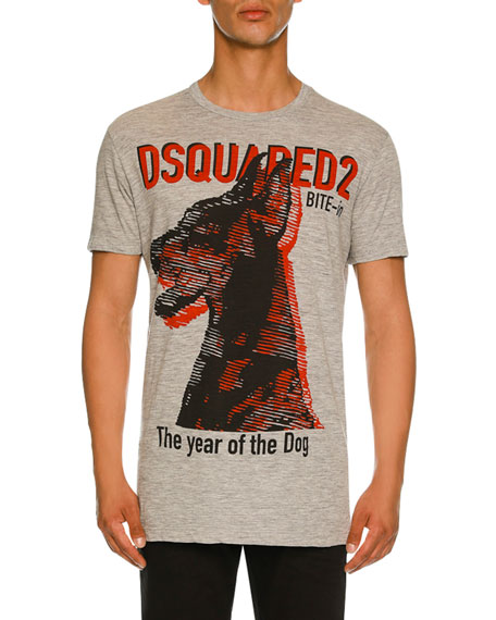 Dsquared2 Year of the Dog Graphic T-Shirt