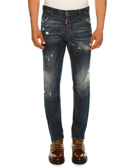 Dsquared2 Slim-Fit Distressed Jeans