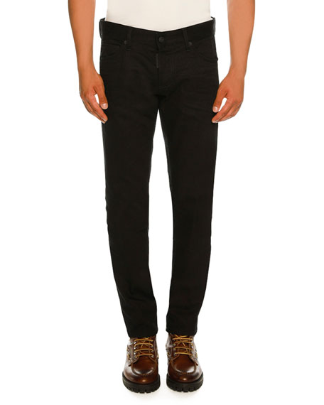 Bull Wash Slim-Fit Solid Jeans