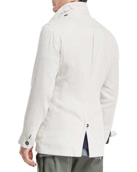 Button-Front Safari Jacket