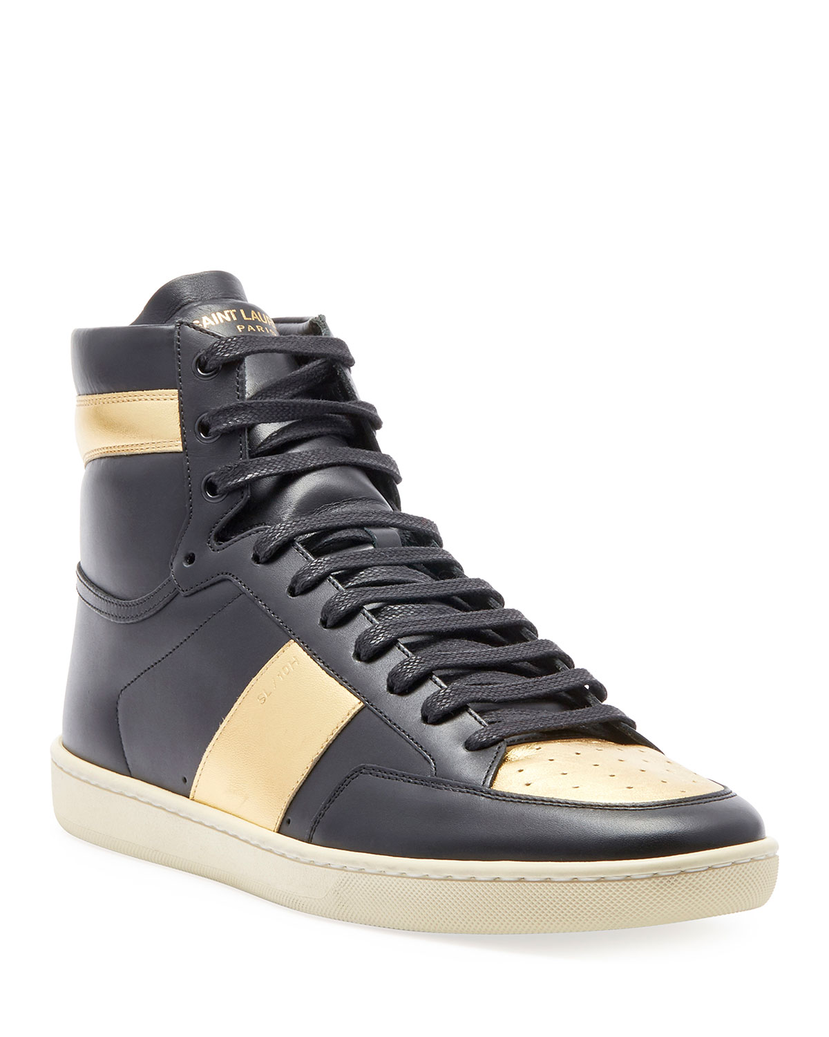 a3db845fdd27 Saint Laurent Men s Metallic High-Top Sneakers