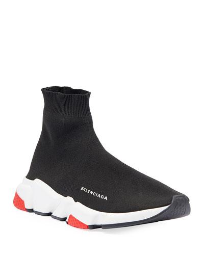 Men's Speed Mid-Top Trainer Sock Sneakers