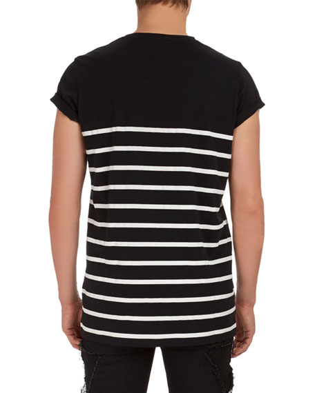 Striped Logo Graphic T-Shirt