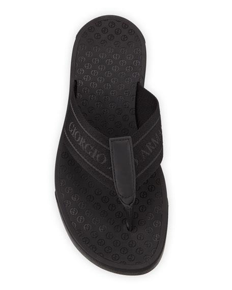 Giorgio Armani Logo Jacquard Thong Sandal
