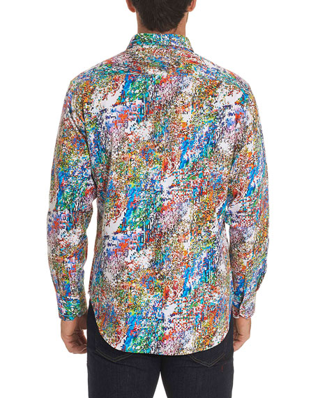Splash Graphic-Print Sport Shirt